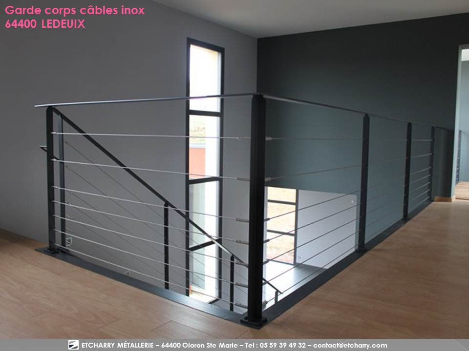 rambarde cable horizontal timber application quel type de balustrade pour scuriser votre. Black Bedroom Furniture Sets. Home Design Ideas